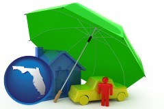 florida map icon and types of insurance