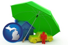 mi map icon and types of insurance