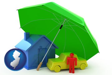 types of insurance - with New Jersey icon